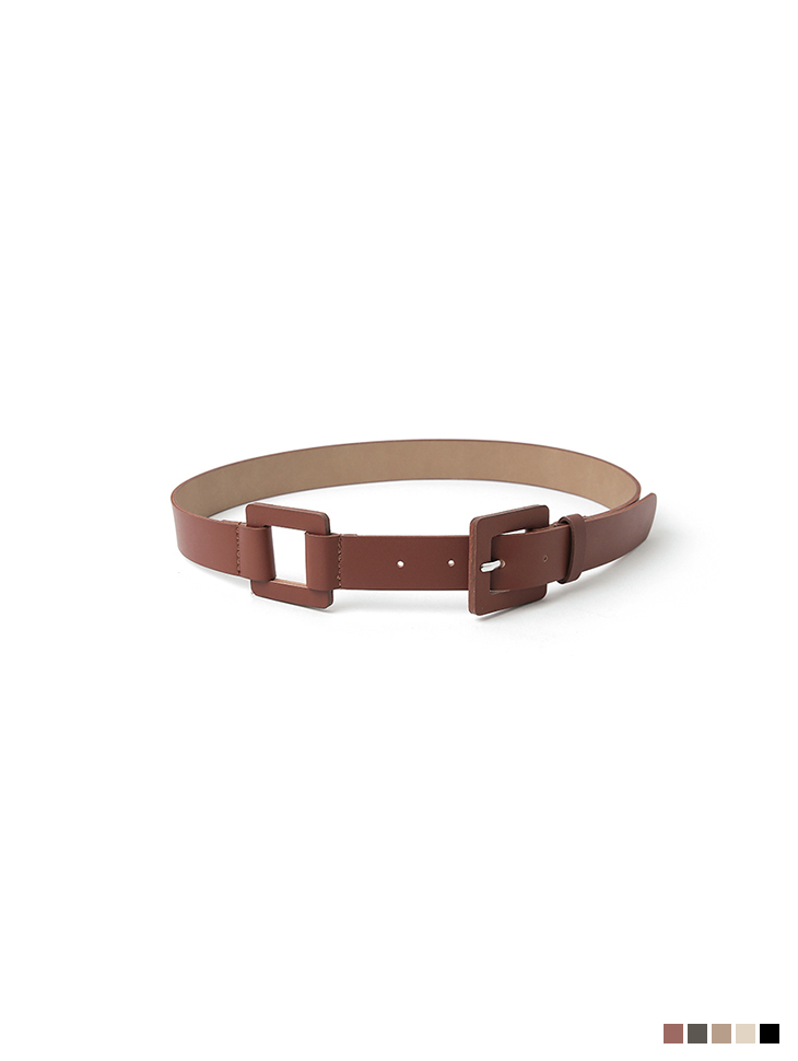 AT-391 matt square Two Buckle Belt(3rd REORDER)