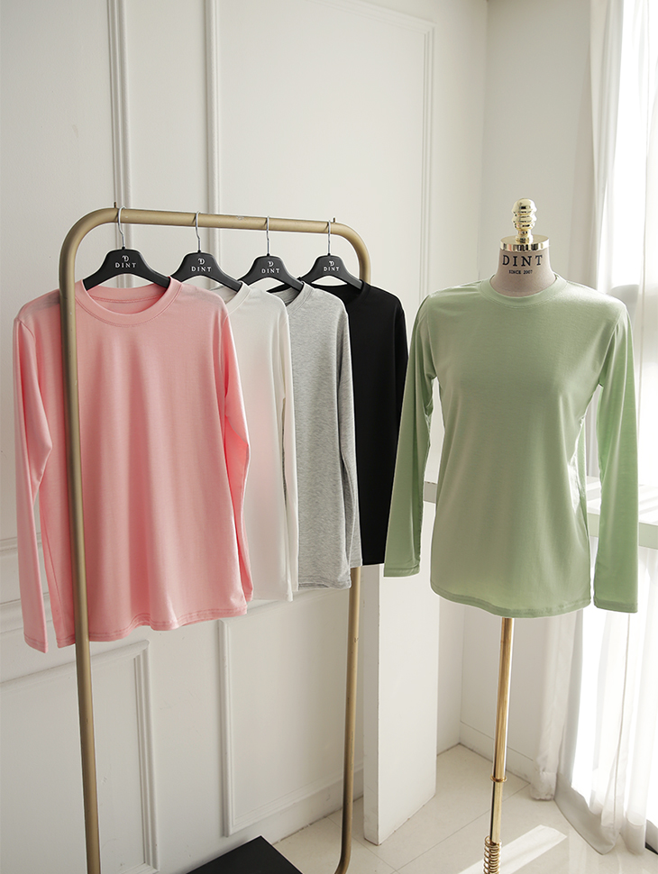 E2390 Clean basic Round neck Top