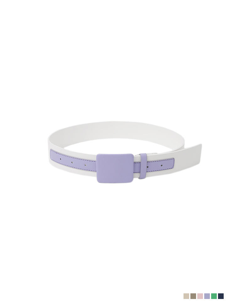 AT-398 square Leather Belt