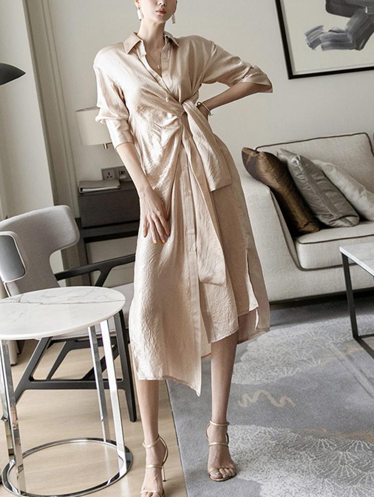 D4031 glossy twist Dress(13rd REORDER)