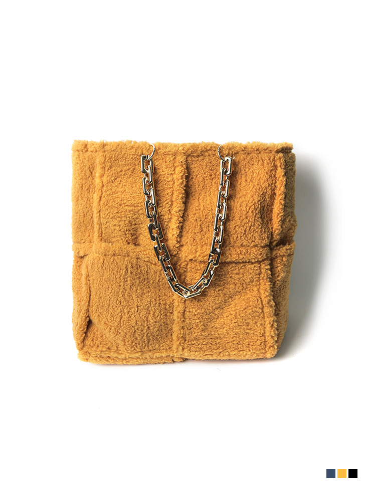 A-1220 Gold Chain Big square Bag(PouchSET)