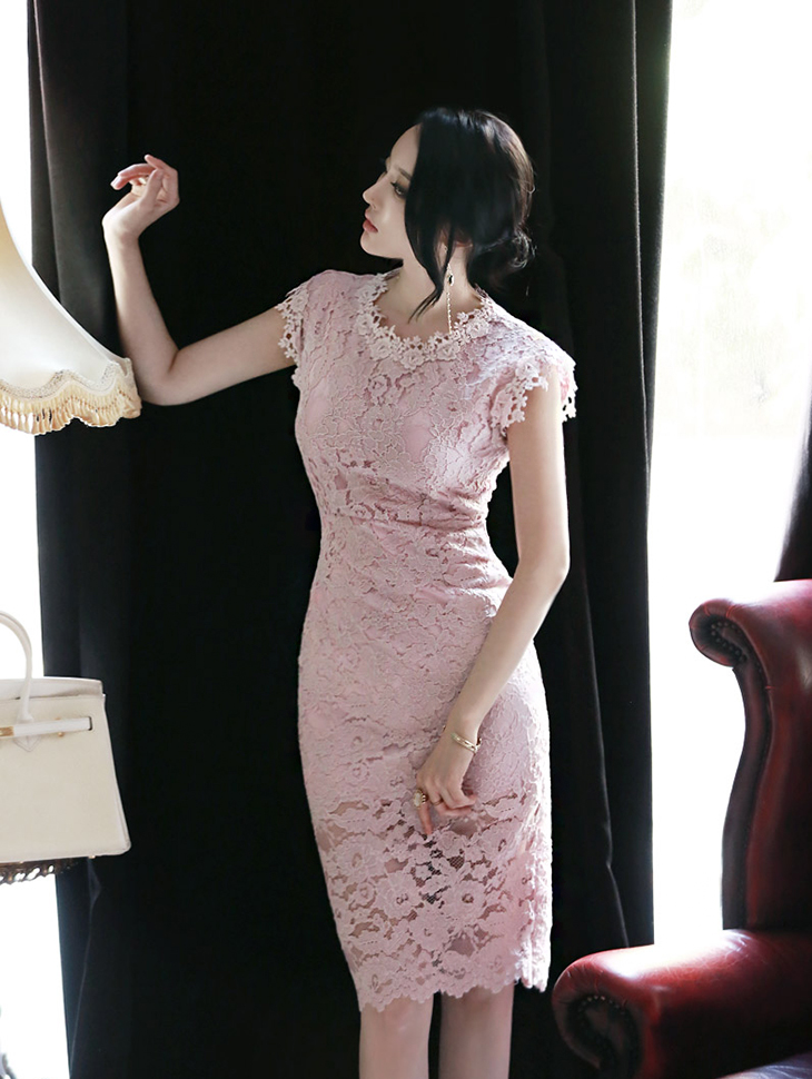 D3276 Lace Dress(80th REORDER)