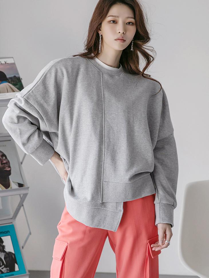 E2406 palette Unbalance Round neck sweatshirt(6th REORDER)