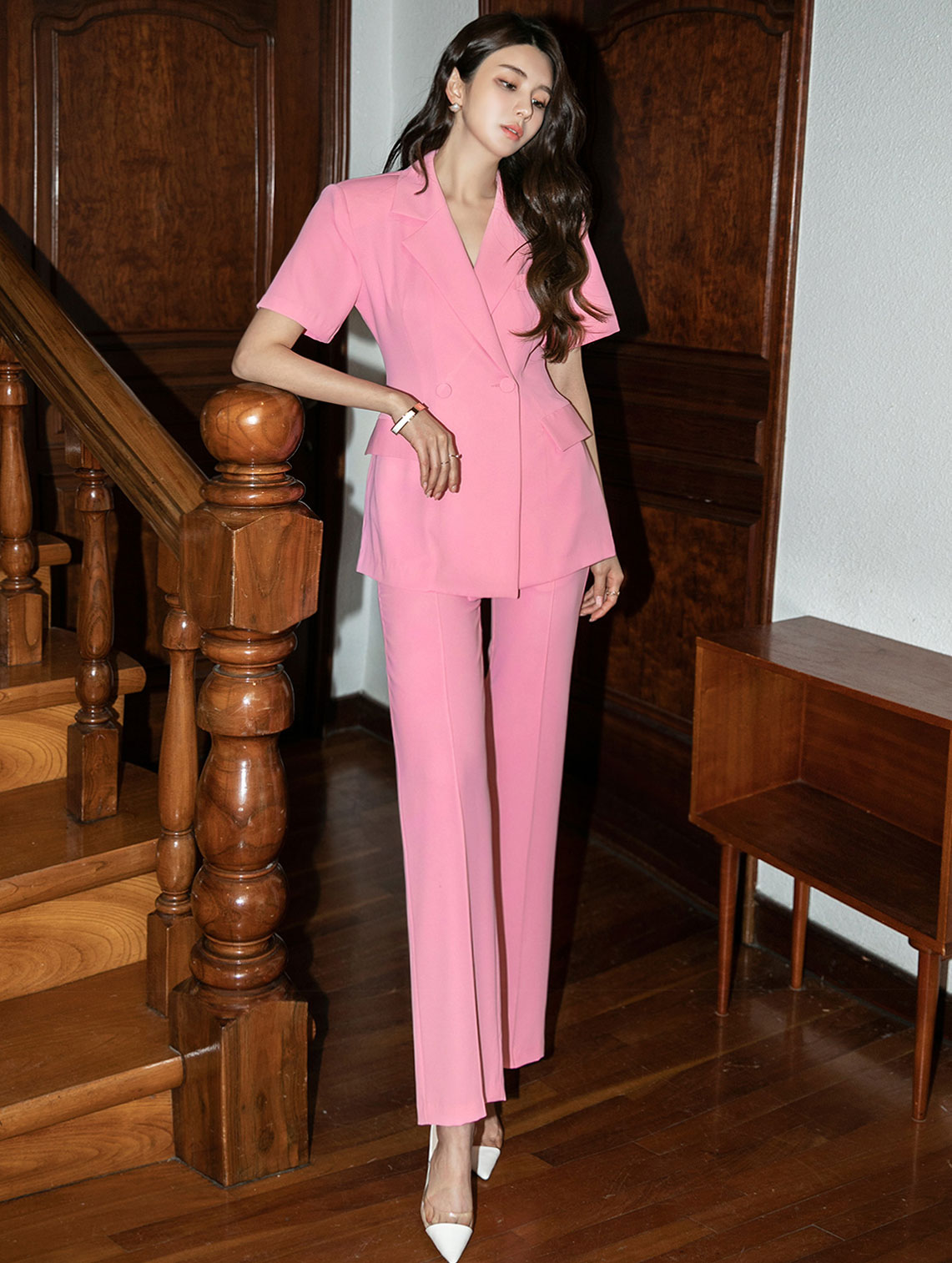 TP1092 그레 basic Double Button High Waist Suit(31st REORDER)