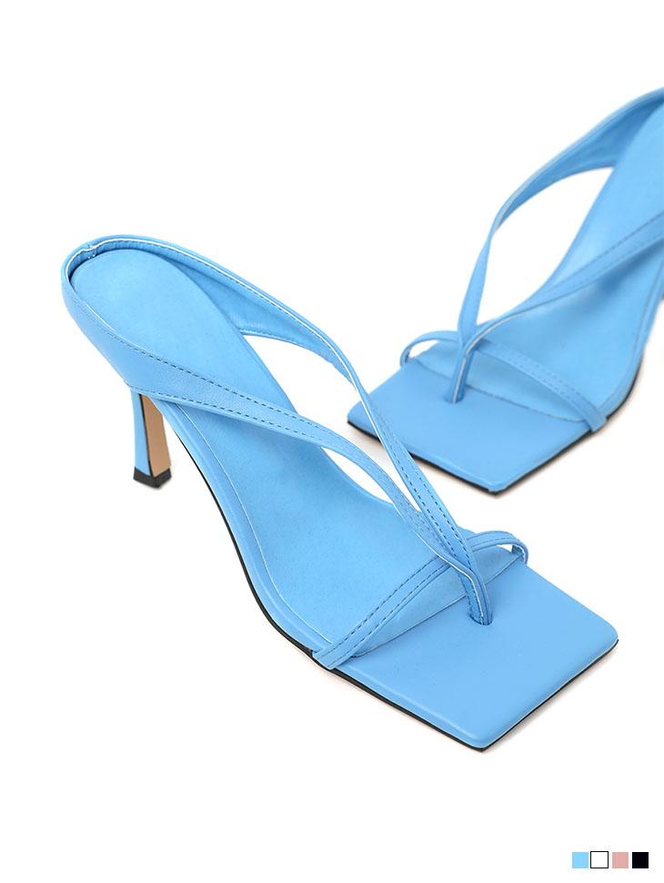 AR-2708 square flip flop High heels mule