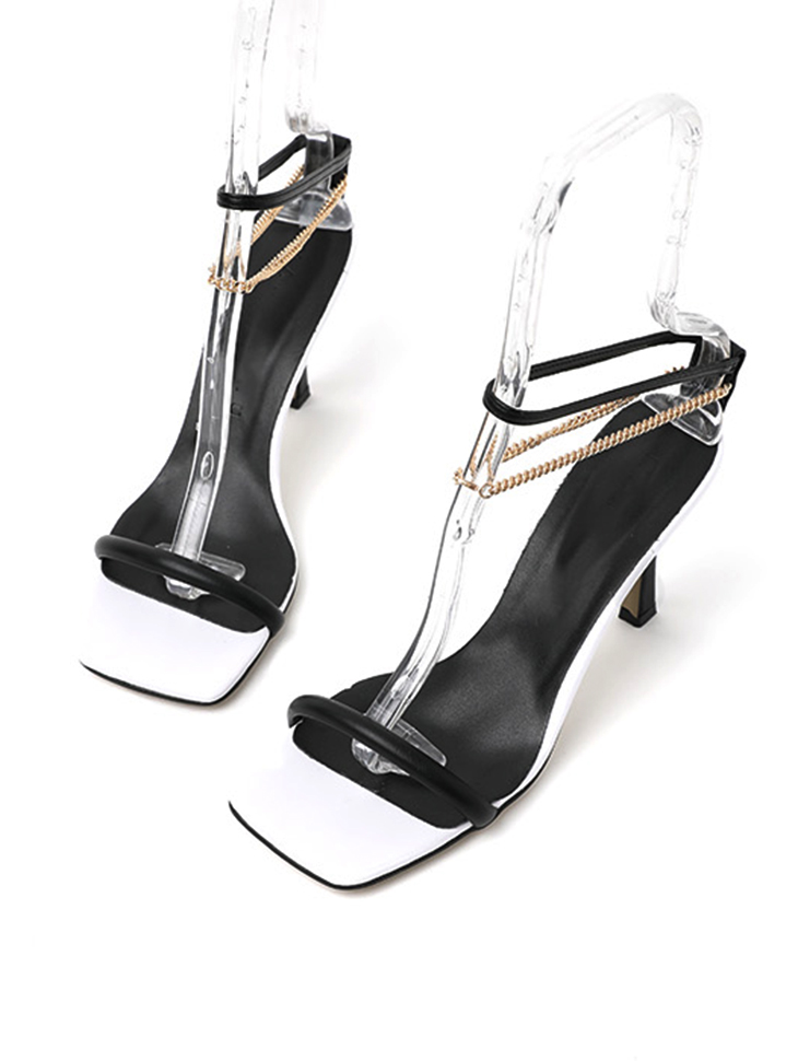 AR-2717 Chain ankle layered High heels sandals