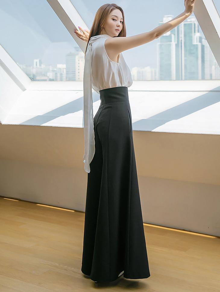 P9060 High Waist wide full pants