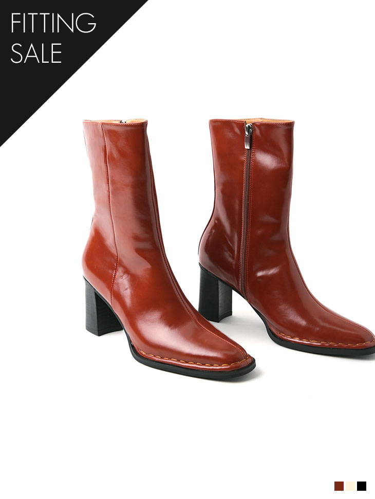 PS2122 stitch Point ankle boots*Fitting sale*