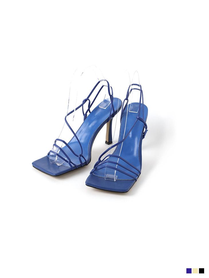 AR-2715 square thin Strap High heels sandals