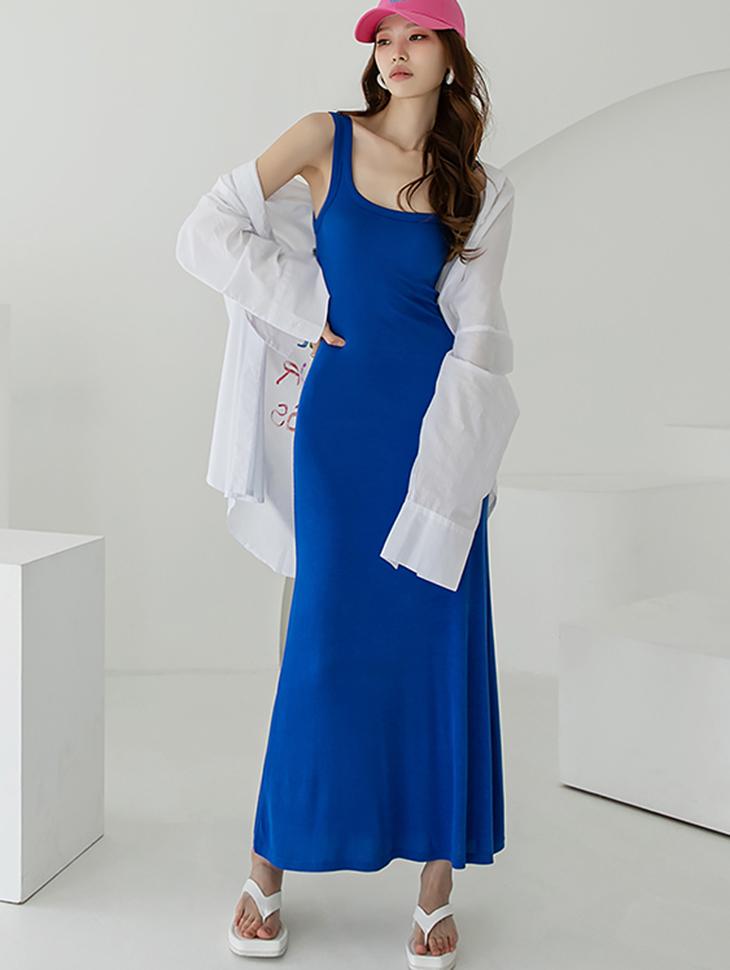 D4242 메그 corrugated Sleeveless Long Dress(21st REORDER)