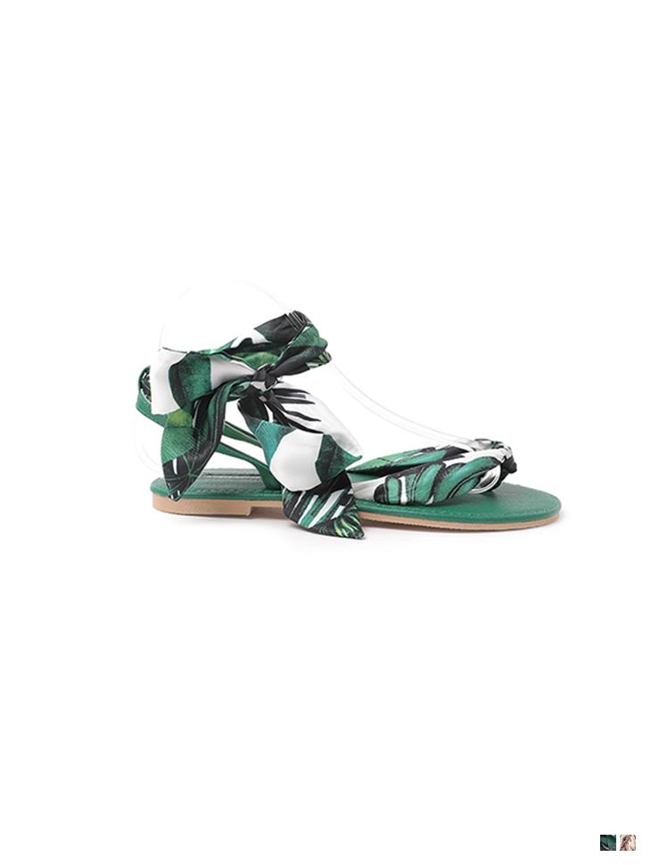 AR-2748 Summer Scarf Strap flip flop sandals