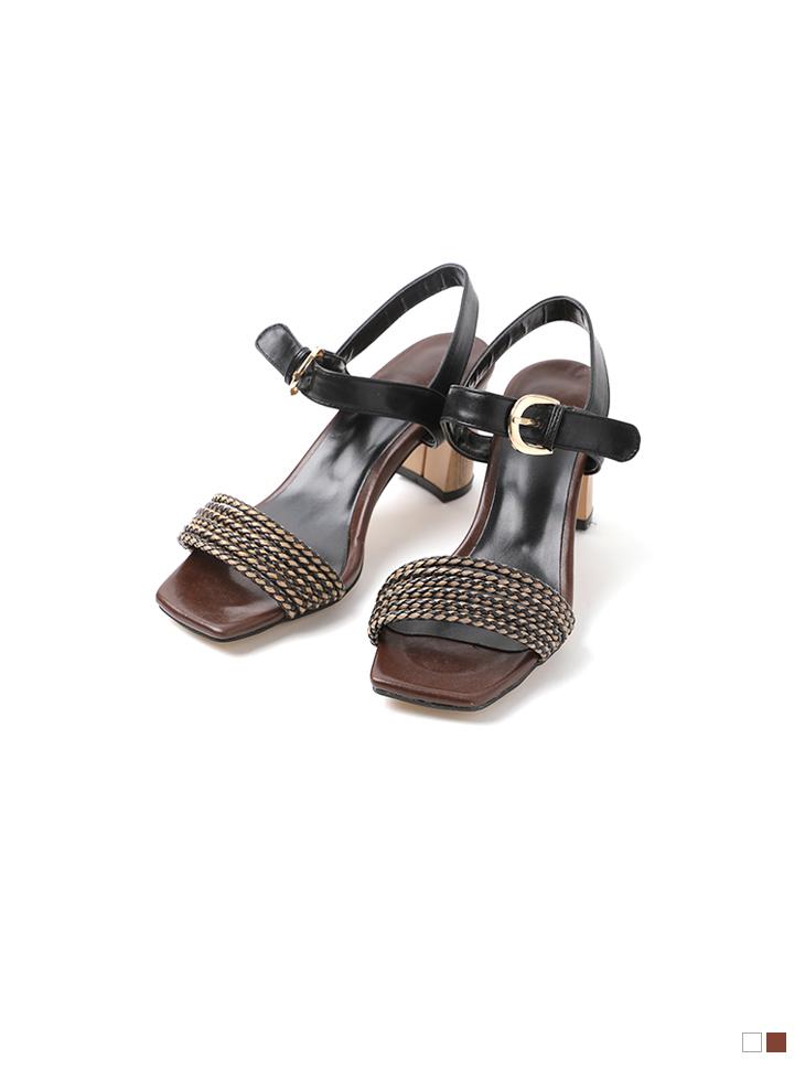 AR-2766 Leather twist Strap High heels sandals