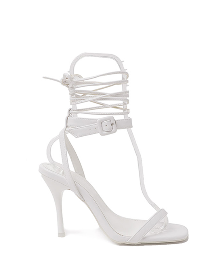 AR-2762 ray square two way High heels sandals(StrapSET)(3rd REORDER)