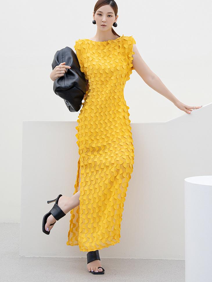 D9257 lucy Half circle Pad Sleeveless Long Dress(3rd REORDER)
