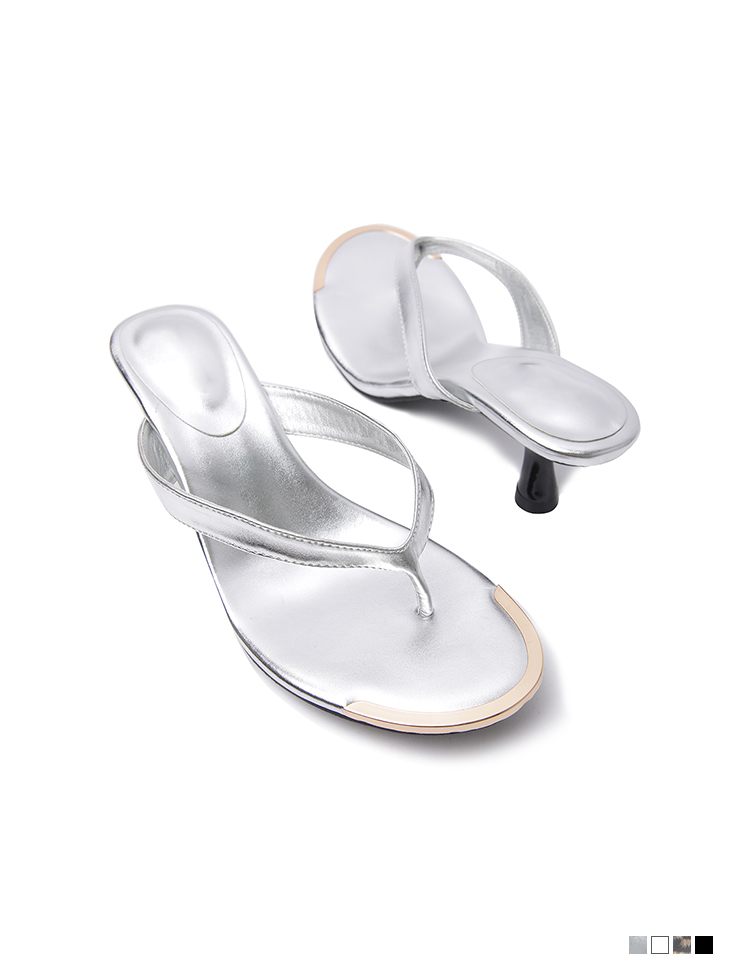AR-2792 디앤 thin Gold flip flop middle heels mule(6th REORDER)