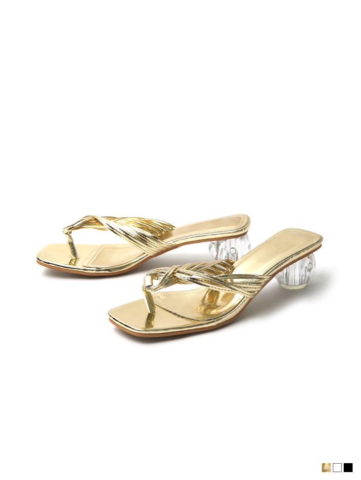 AR-2773 피렌 Strap twist flip flop middle heels mule(12nd REORDER)