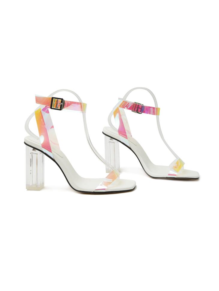 AR-2784 clear Strap band High heels sandals