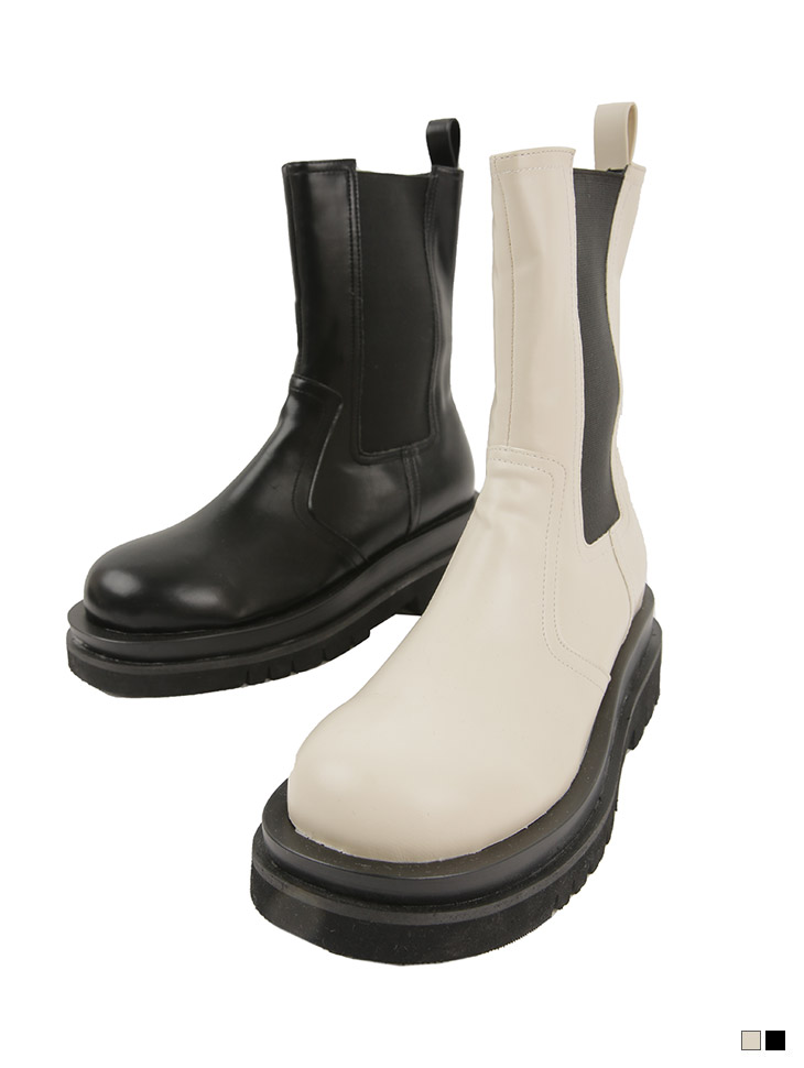 AR-2806 페론 Leather platform Chelsea Middle boots(12nd REORDER)