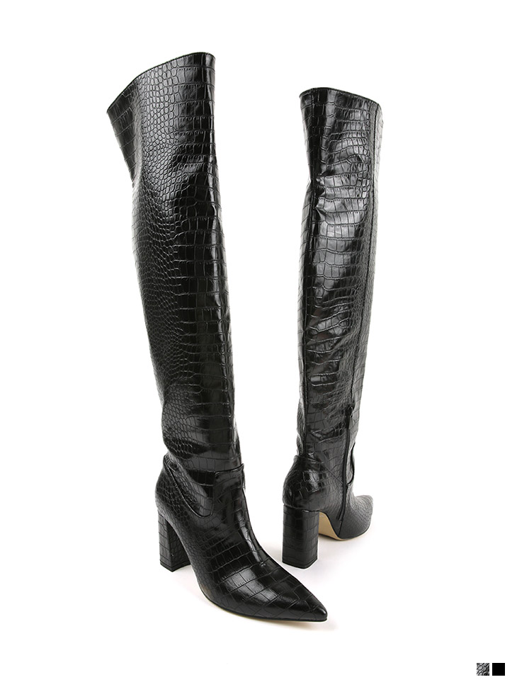 AR-2809 Leather knee-high High heels Long boots