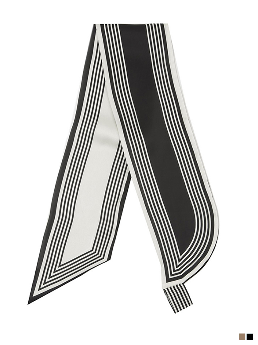 AS-1505 stripe Tie soft Scarf