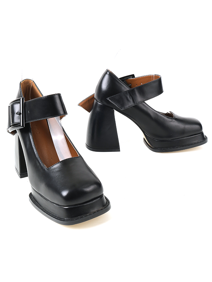 AR-2831 로밋 square Mary Jane High heels Pumps(12nd REORDER)