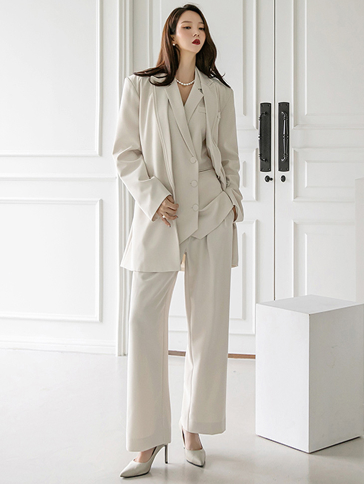 TP1291 Tailored Pad over fit Double Jacket three-piece*SET 5%*