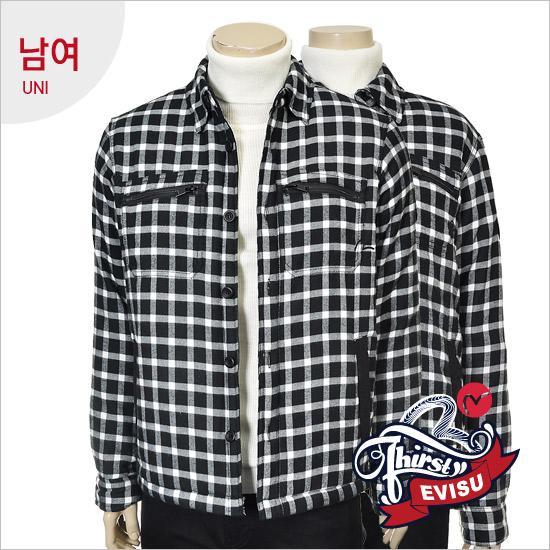 Uni _ pocket-type strain quilting outerwear Shirt_EN4NB312_BK