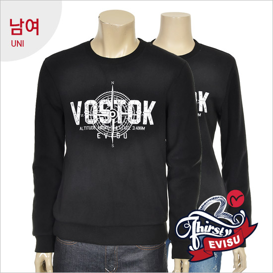 Uni-bonded fleece boa _VOSTOK man-to-man t-shirts _EN4RT301_BK