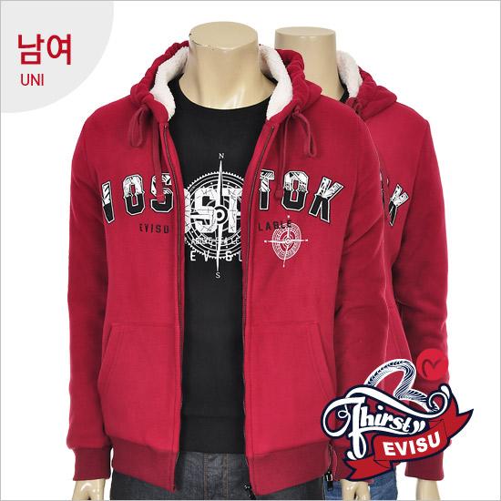 Uni-bonded fleece hooded zip jumper _VOSTOK seen _EN4ZT311_BU
