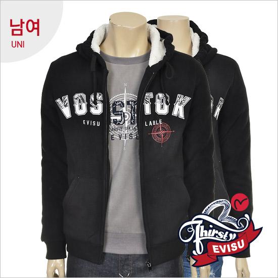 Uni-bonded fleece hooded zip jumper _VOSTOK seen _EN4ZT311_BK