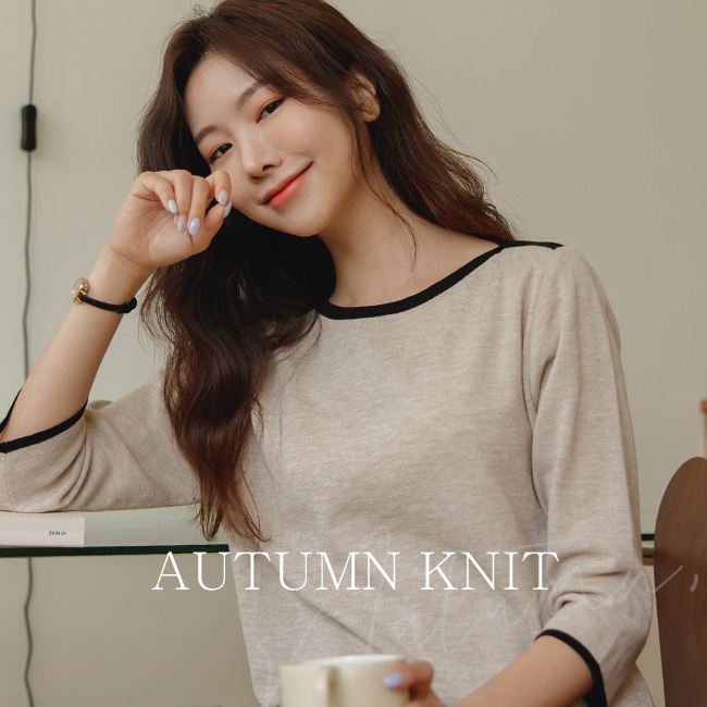 <br>8DA23683GG_Buil Lip Neck 7 Color Matching Knit