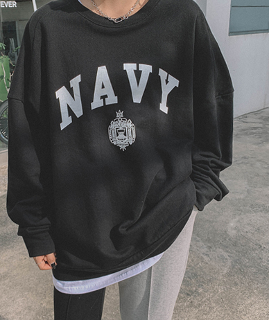 Navy Boxy Man-to-Man