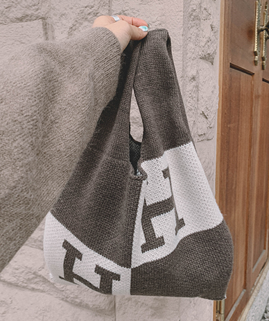 H knit bag