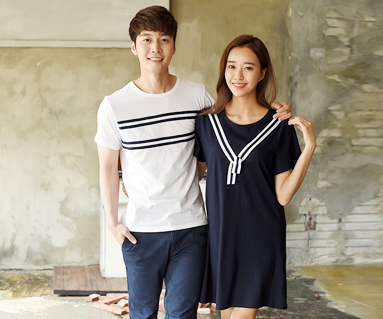 Two-way Couples short T-shirts_16B24
