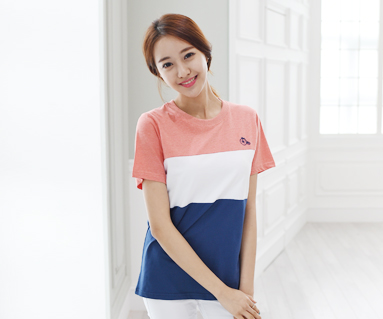 Trinity round female short T-shirts_15B04