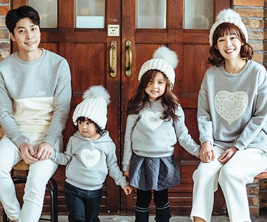 """Brushed Cotton family long sleeve_16D04 <font color=""""#FF6666""""><strong>[Order available]</strong></font>"""