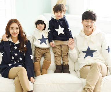 """Brushed All-Star Hooded family long sleeve_14D12 <font color=""""#FF6666""""><strong>[Order available]</strong></font>"""