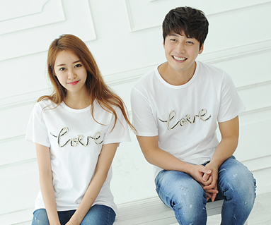 """Denim Rope round Couples short T-shirts_14B31 <font color=""""#FF6666""""><strong>[Order available]</strong></font>"""
