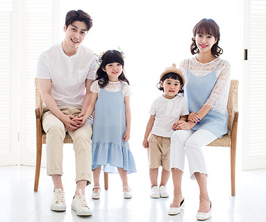 """<font color=""""ffffff"""">[Family tee & family look] <br></font> Soft family short T-shirts_17B14"""