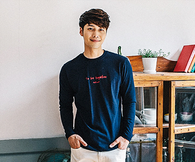 Airplane embroidery men long sleeve_16C12