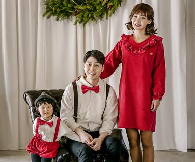 "<font color=""ffffff"">[Family long sleeve tea & family look]<br></font> Brushed Ruffles family long sleeve_17D16"