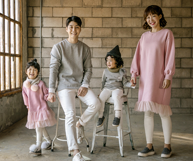 """<font color=""""ffffff"""">[Family long sleeve tee & family look] <br></font> Brushed Shah Princess family long sleeve_17D15<font color=""""#FF6666""""><strong>[Order available]</strong></font>"""