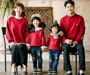 "<font color=""ffffff"">[Family long sleeve tea & family look]<br></font> Brushed Lunarace family long sleeve_17D13"