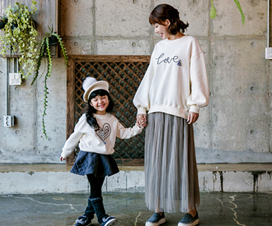 """<font color=""""ffffff"""">[Family long sleeve tee & family look] <br></font> Brushed logoTestle Mom and baby long sleeve_17D14"""