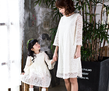 Romantic royal Mother and baby long sleeve_17A11