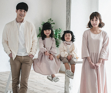 "<font color=""ffffff"">[Family long sleeve tee & family look] <br></font> Ludham dress family long sleeve_18A06"
