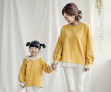"<font color=""ffffff"">[Family long sleeve tea & family look] <br></font> Luna race mom and baby long sleeve_18A05WK"