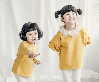 "<font color=""ffffff"">[Family long sleeve tea & family look] <br></font> Luna race baby long sleeve_18A05K"