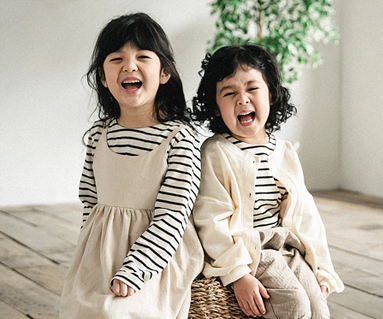 "<font color=""ffffff"">[Family long sleeve tea & family look] <br></font> Pure Simply dress baby long sleeve_18A03K"