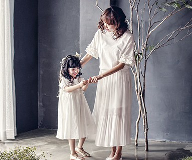 "<font color=""ffffff"">[Family Tea & Family Look] <br></font> Clara mom and baby short T-shirts_17B16WK"